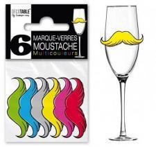 Marque-verre moustache (x6) REF/MVM