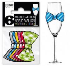 Marque-verre noeud papillon (x6) REF/MVN