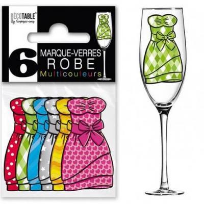 Marque-verre robe (x6) REF/MVR