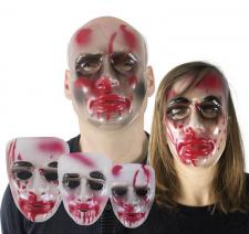 Masque adulte Halloween transparent avec sang (x1) REF/56210