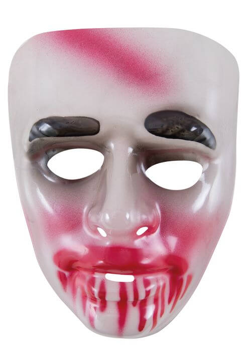 Masque adulte halloween transparent sang