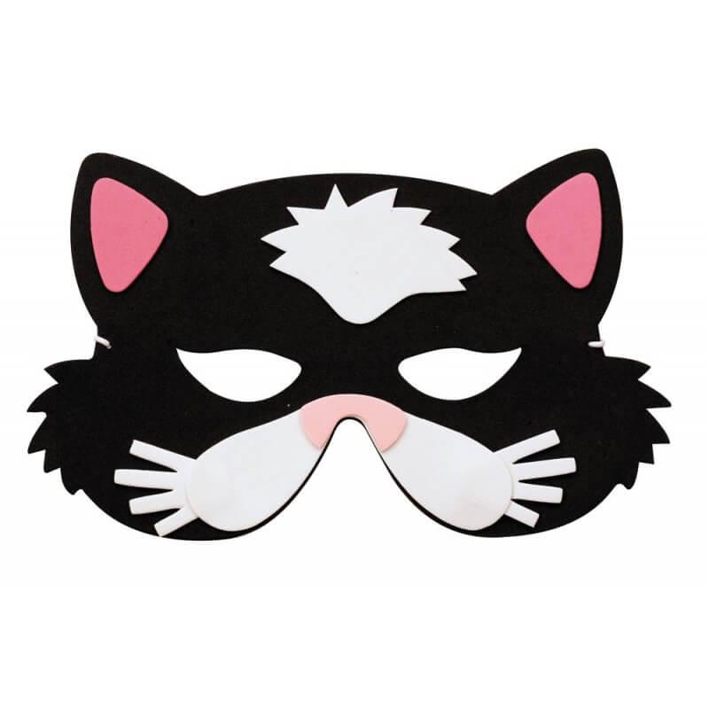 Masque enfant loup chat x1 ref 56054 - Masque de chat a colorier ...