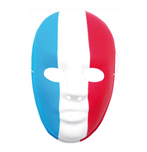 Masque tricolore france