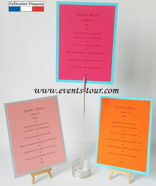 Menu de table 1