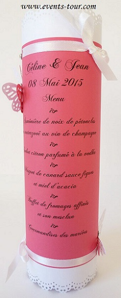 Menu de table fuchsia