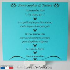 Menu de table papillon: Butterfly (x1) REF/10449