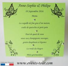 Menu de table papillon: Apollon (x1) REF/10448