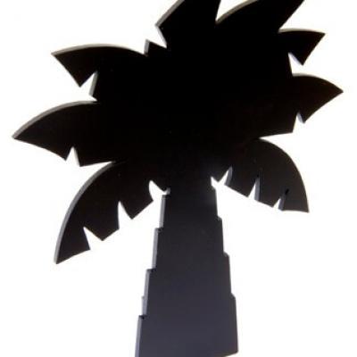 Menu palmier noir (x1) REF/DEC674