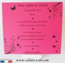 Menu de table papillon: Aurore (x1) REF/10450