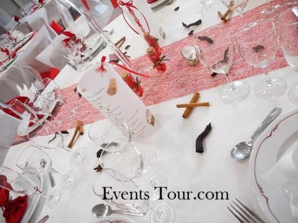 Menu photophore calque pour table de mariage