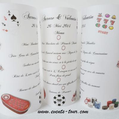 Menu photophore casino: Jeux (x1) REF/10327