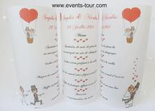 Menu photophore mariage: Cartoon (x1) REF/10303