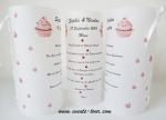 Menu photophore cupcakes (x1) REF/10344