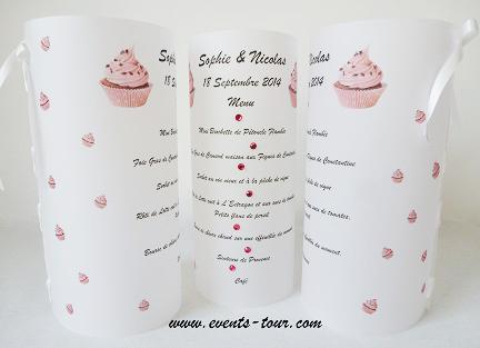 menu photophore mariage gourmandise macaron. Black Bedroom Furniture Sets. Home Design Ideas