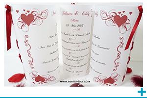Menu photophore personnalisable calque mariage et st valentin