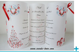 Menu photophore personnalisable calque noel