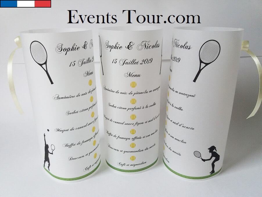 Menu photophore tennis