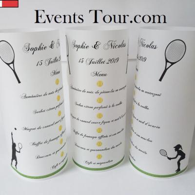 Menu photophore sport: Tennis (x1) REF/10319