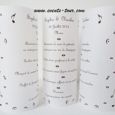 Menu photophore musique: So Music (x1) REF/10335