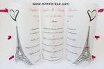 Menu photophore Paris (x1) REF/10311