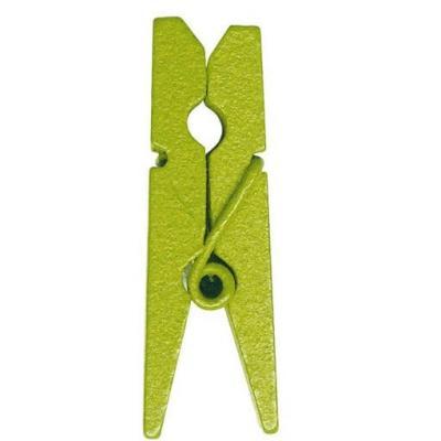 Mini pince verte, 2.5cm (x24) REF/2691