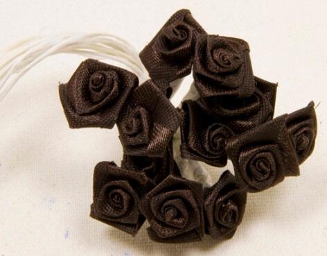 Mini rose marron