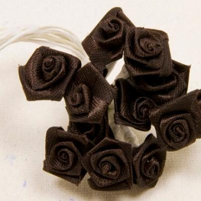 Mini rose marron (x72) REF/FL520