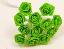 Mini rose vert menthe (x72) REF/FL520