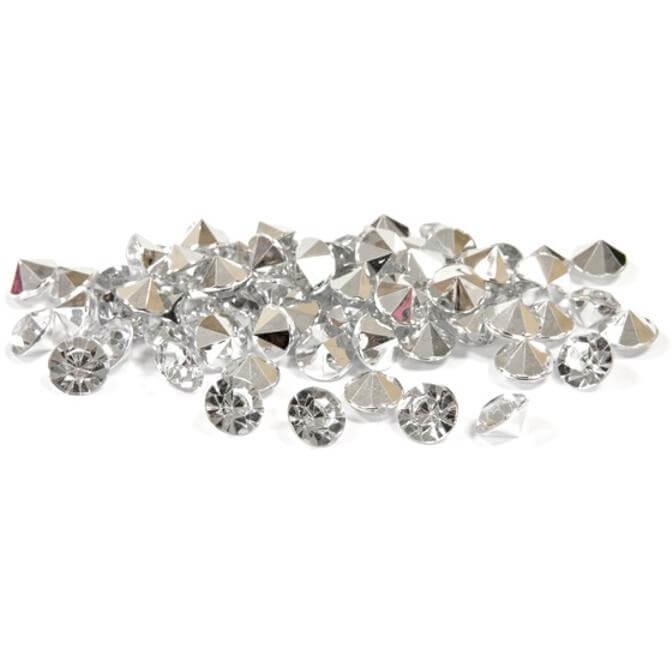Mini strass diamant argent et transparent