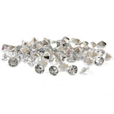 Mini strass diamant argent et transparent (x120) REF/DEC851
