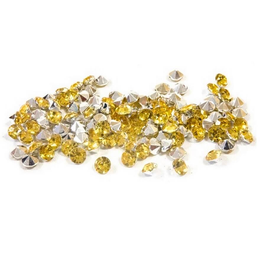 Mini strass diamant doree