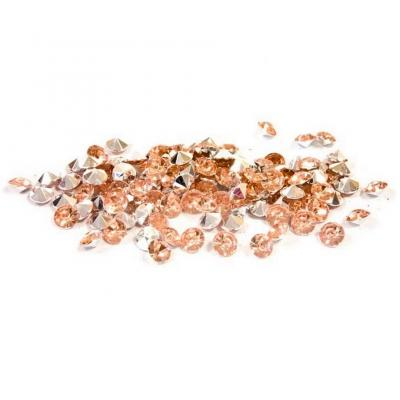 Décoration de table avec mini strass diamant rose gold et transparent (x120) REF/DEC851