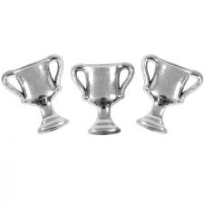 Motif coupe vainqueur argent (x10) REF/MT378