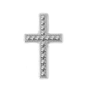 Motif croix argent (x10) REF/MT368