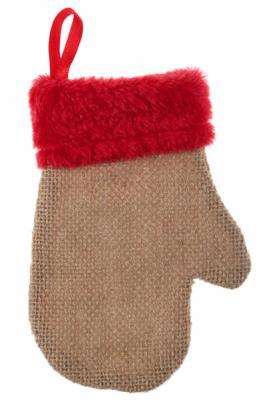 Moufle naturel et rouge (x2) REF/5480