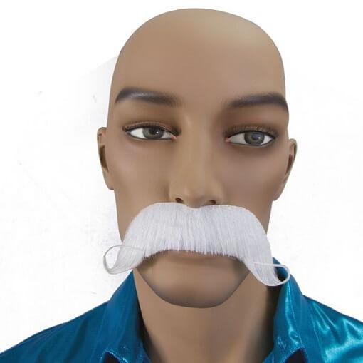 Moustache dandy blanche