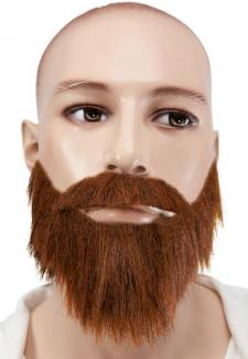 Moustache et collier marron (x1) REF/89215