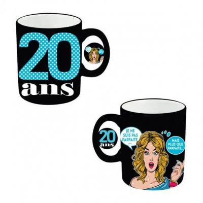 Mug anniversaire femme 20ans (x1) REF/MUGAF02