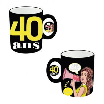 Mug anniversaire femme 40ans (x1) REF/MUGAF04