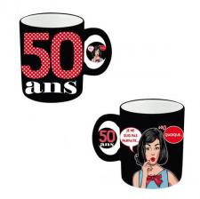 Mug anniversaire femme 50ans (x1) REF/MUGAF05