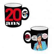 Mug anniversaire homme 20ans (x1) REF/MUGAH02