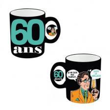 Mug anniversaire homme 60ans (x1) REF/MUGAH06