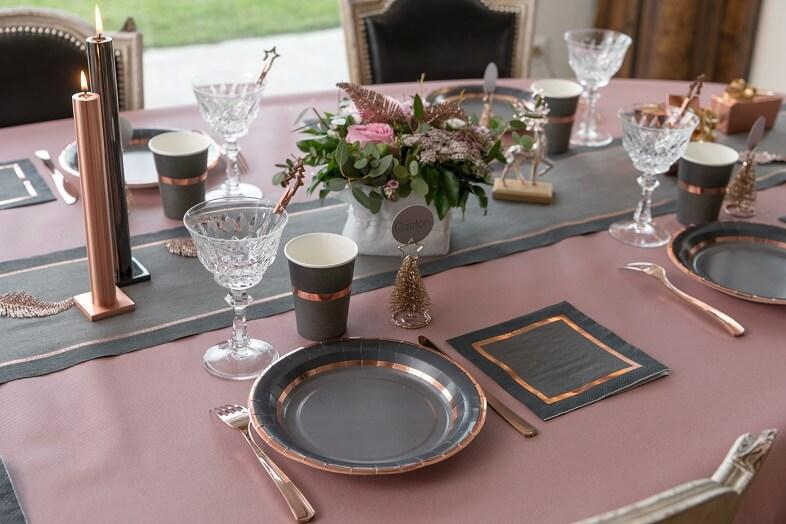 Nappe airlaid mariage rose gold 25 m