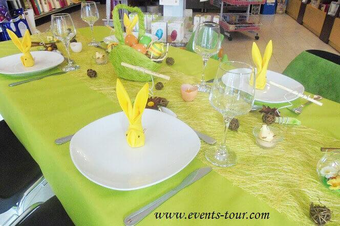 Nappe de table tissu airlaid vert kiwi