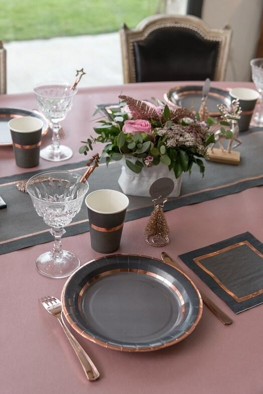 Nappe jetable airlaid mariage rose gold 25 m