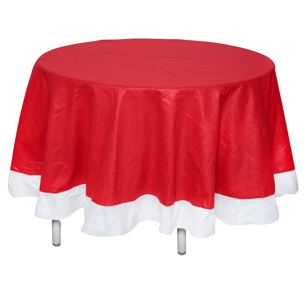 nappe ronde de no l rouge et blanche x1 ref 6021. Black Bedroom Furniture Sets. Home Design Ideas