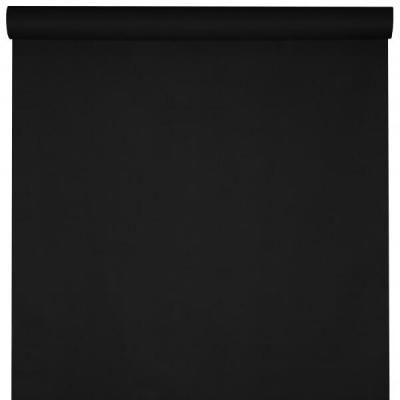 Nappe élégante rectangulaire Airlaid noir 120cm x 10m (x1) REF/6805