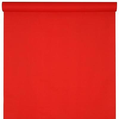 Nappe élégante rectangulaire Airlaid rouge 120cm x 10m (x1) REF/6805