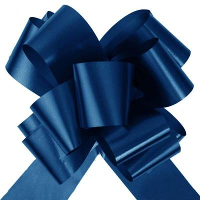 Noeud à tirer automatique bleu marine avec ruban de 50mm (x10) REF/1831