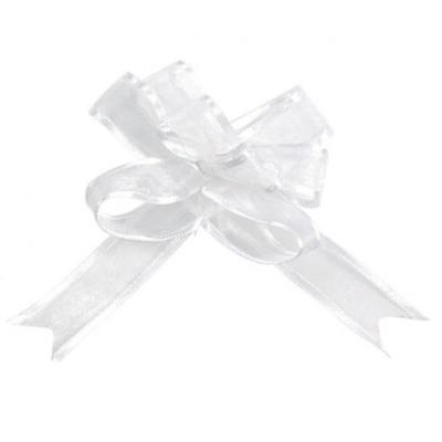Noeud automatique organdi blanc (x5) REF/2826